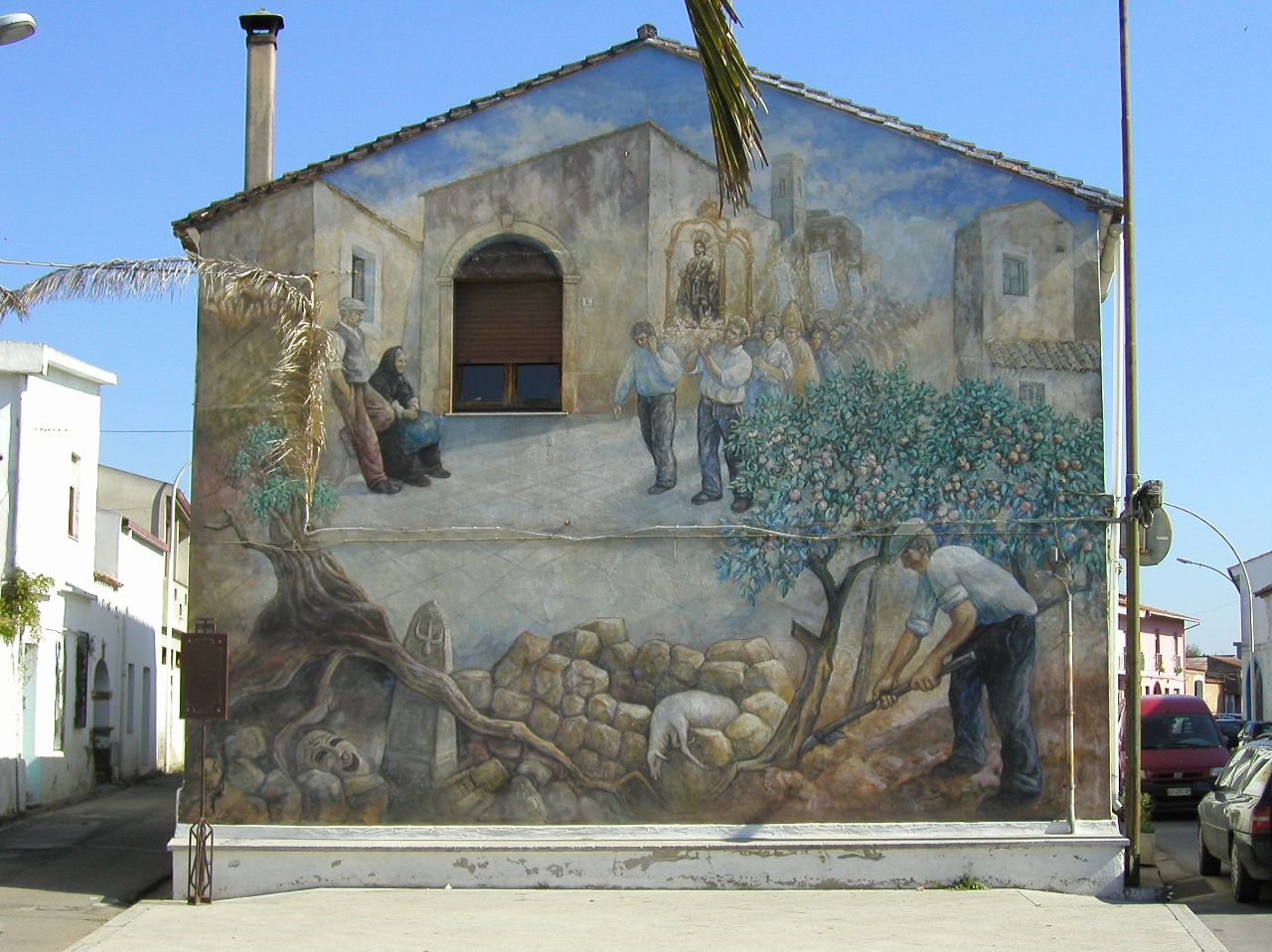 Murales San Sperate realizzato da Angelo Pilloni